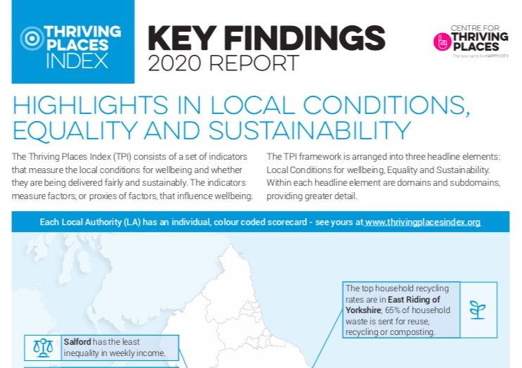 Thriving Places Index 2020 Key Findings